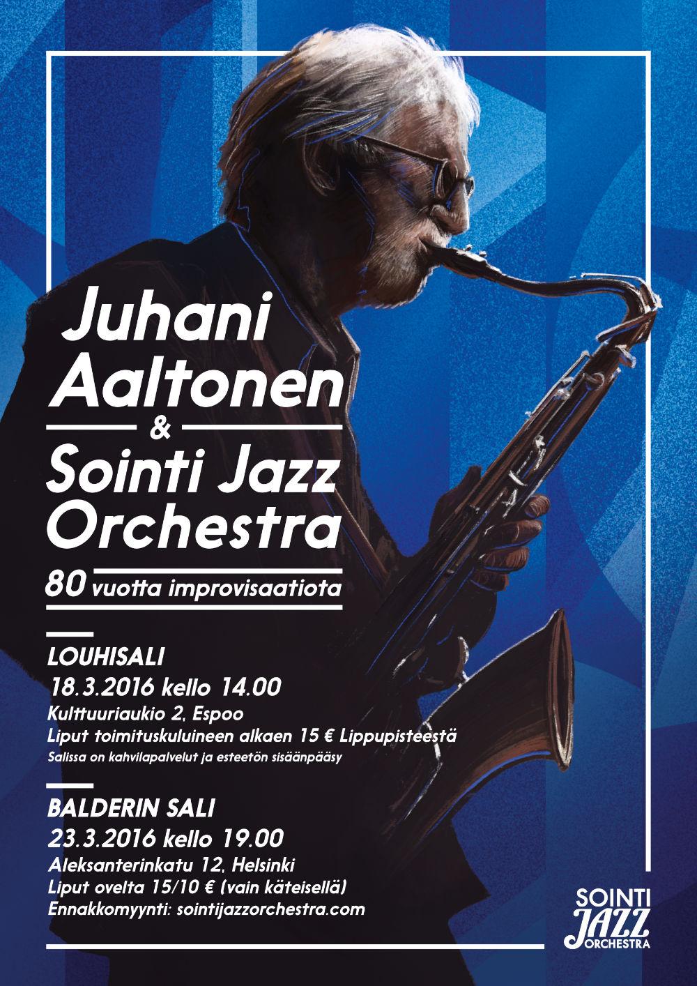 Juhani Aaltonen Sointi Jazz juliste cargo